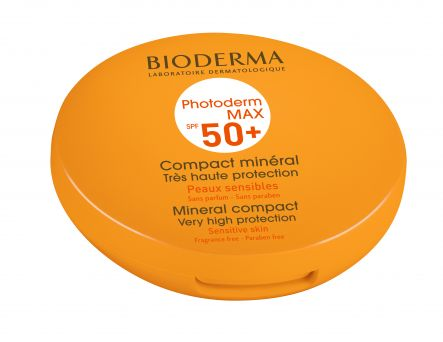 Bioderma Photoderm MAX Compact SPF 50+ Mineral Sunscreen Golden Tint Combination Oily Skin