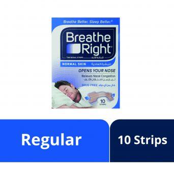 Breathe Right Nasal Strips- Regular, 10 Strips