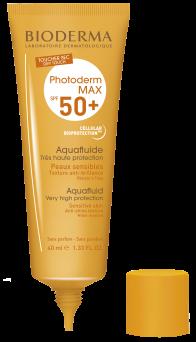 Bioderma Photoderm MAX Aquafluide SPF 50+ Dry touch mat finish sunscreen