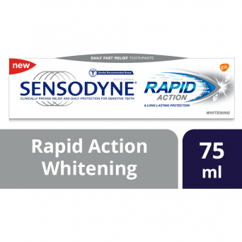 Sensodyne Rapid Action Whitening Toothpaste, 75 ml