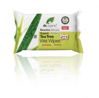 Dr Organic Tea Tree Wet Wipes