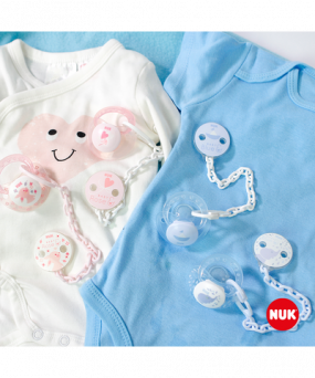 Nuk Soother Chain Baby Rose