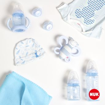 Nuk Trendline Baby Blue Soother, 0-6M - 2's