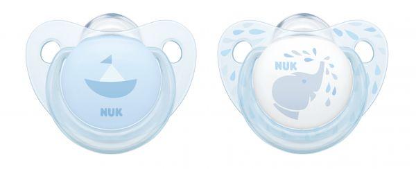 Nuk Trendline Baby Blue Soother, 6-18M - 2's