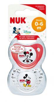 Nuk Disney Mickey Trendline Silcone Soother, 0-6M - 2's