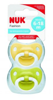 Nuk Fashion Silicon Soother 6-18M - Pack of 2 pcs