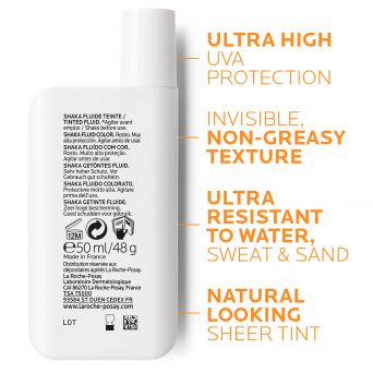 La Roche-Posay Anthelios Shaka Fluid Tinted SPF50+ Sun Protection for All Skin Types 50ml