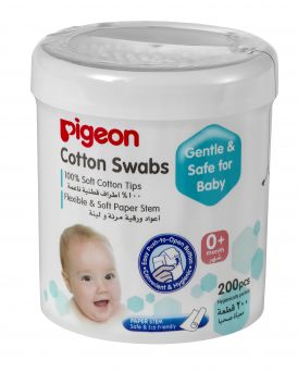 Pigeon Cotton Swabs Extra Thin Paper Stem 200's