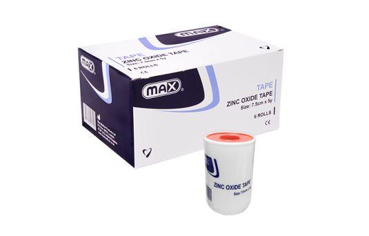 Max Zinc Oxide Tape 7.5cm x 5y