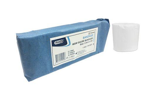 Max Gauze Bandage 2.5cm x 5m