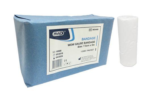 Max Gauze Bandage 7.5cm x 5m