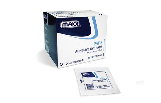 Max Sterile Adhesive Eye Pads, 50pcs