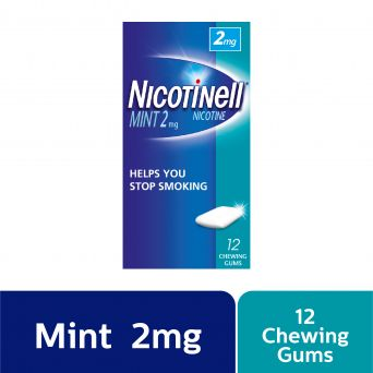 Nicotinell Mint 2mg Chewing Gum, 12 Chewing Gums