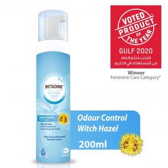 Betadine Intimate Wash Odour Control Hazel 200ml