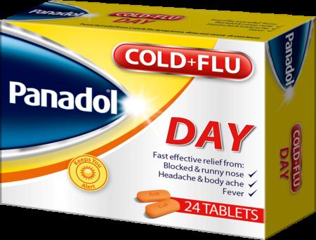 Panadol Cold + Flu Day, 24 Caplets