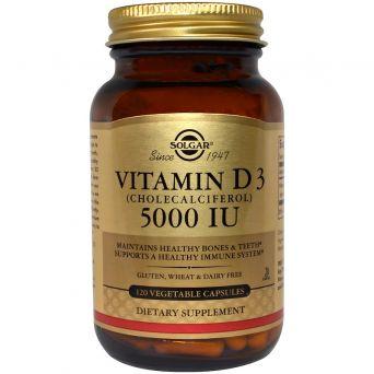 Solgar Vitamin D3 (Cholecalciferol) 125 Mcg (5,000 Iu) 120 Vegetable Capsules