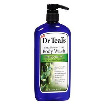 Dr Teal's Epsom Salt Body Wash-Eucalyptus & Spearmint 710ml